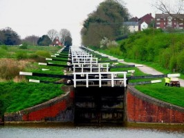 Caen Hill Locks, Devizes, Jasmine Cottage self catering holiday accommodation, near Bath, Wiltshire