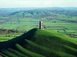 Glastonbury Tor, Jasmine Cottage self catering holiday accommodation, near Bath, Wiltshire